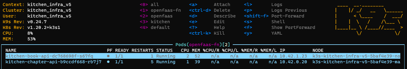 OpenFaaS pods